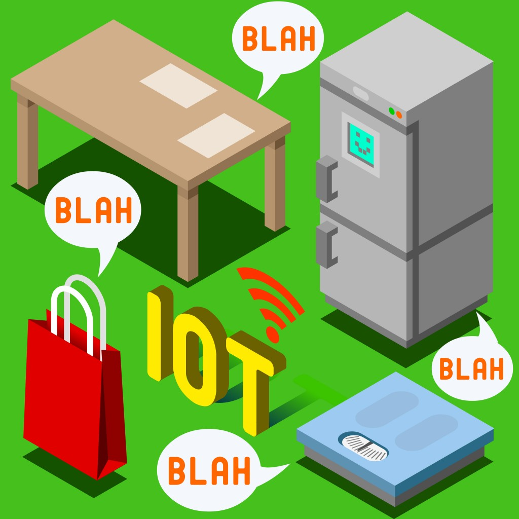 Internet of Things Isometric Representation - The Chatter of Things - IoT Domotics