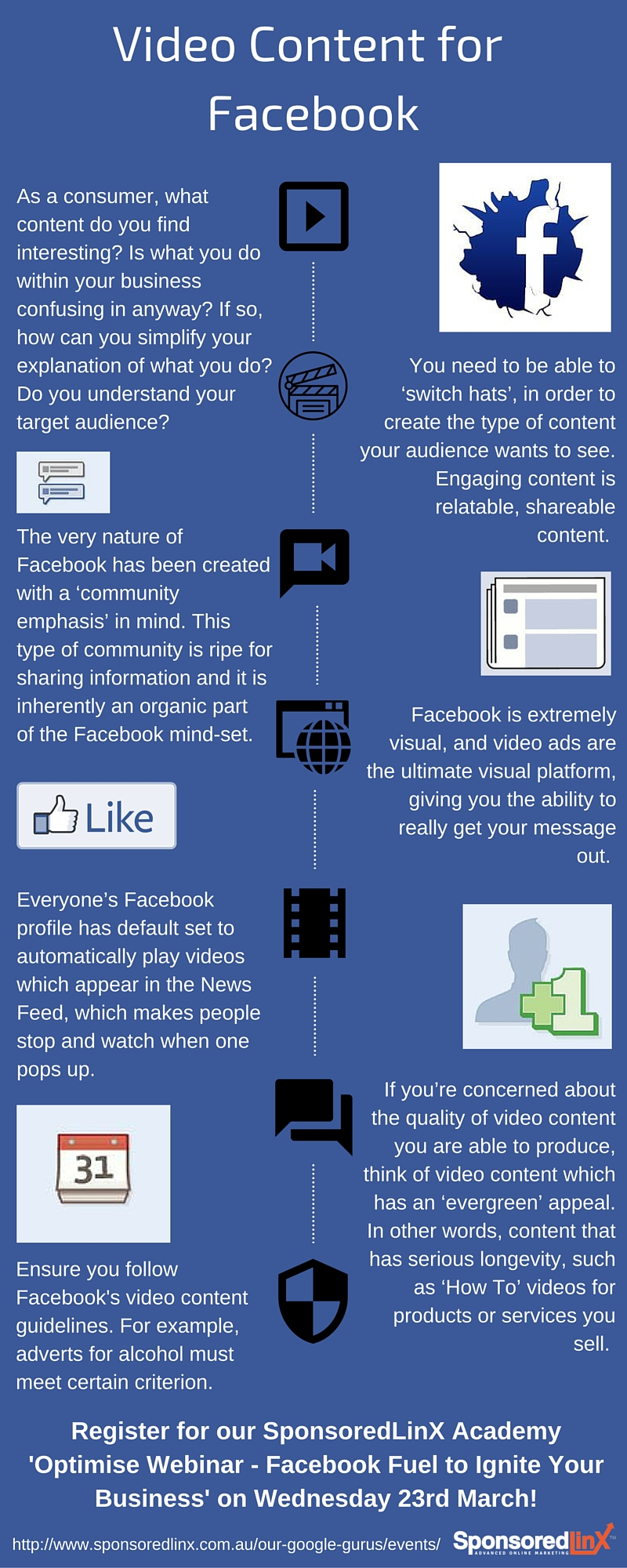 Video Content for Facebook Infographic #2