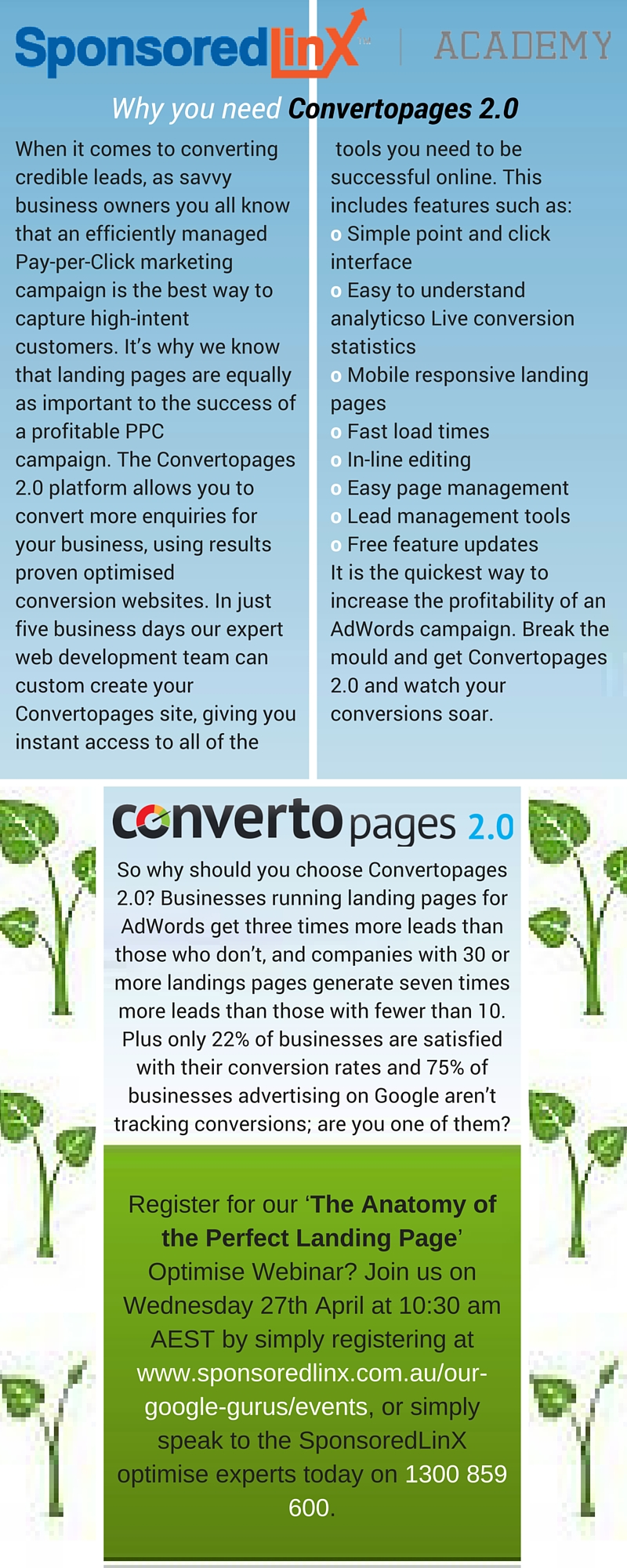 Why you need Convertopages 2.0 Infographic #4