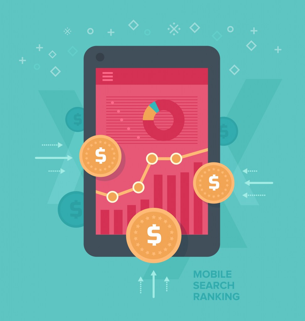 Monetizing mobile web traffic. Concept of making money, optimizing traffic that comes from mobile devices.