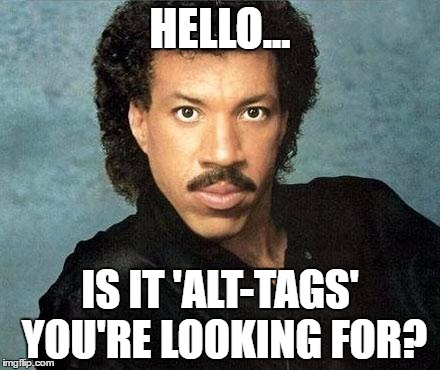 Lionel Richie - your SEO guru!