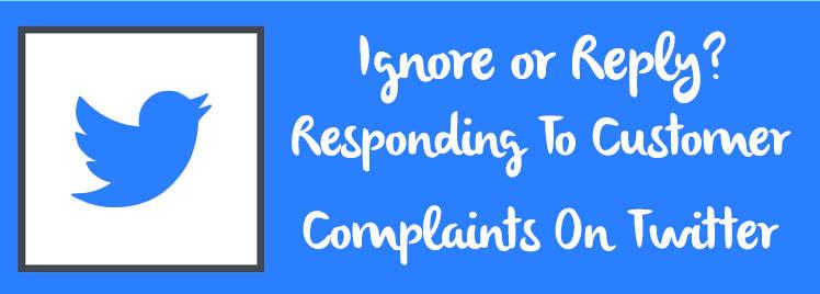 responding to customer complaints on twitter